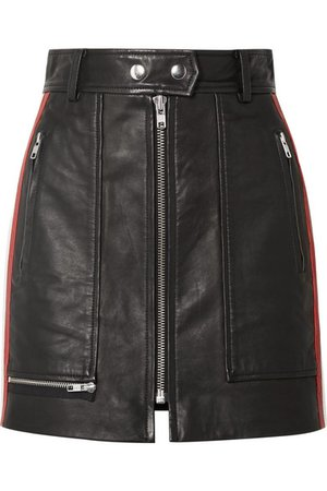 Isabel Marant Étoile | Alynne striped leather mini skirt | NET-A-PORTER.COM