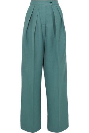Acne Studios | Pristine woven wide-leg pants | NET-A-PORTER.COM