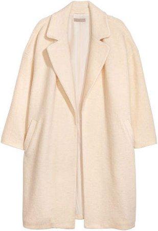 H&M+ Wool-blend Coat - White