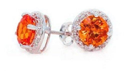orange diamond earrings from royal vault