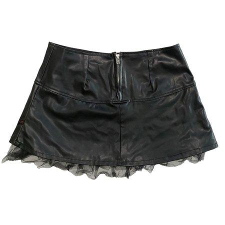 Vintage Y2K Tripp NYC pleather gothic mini skirt!... - Depop