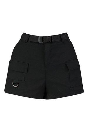 Cargo Belted Twill Short | Boohoo