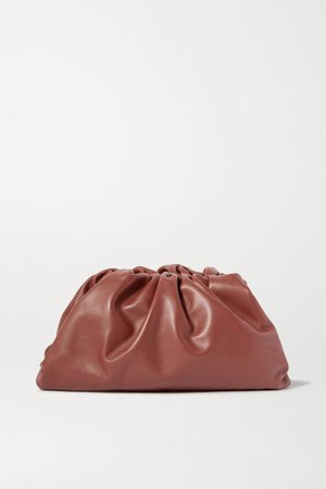 Brown The Pouch large gathered leather clutch | Bottega Veneta | NET-A-PORTER