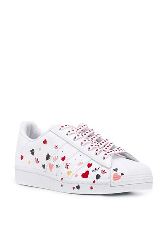 Adidas Superstar heart-print Sneakers - Farfetch