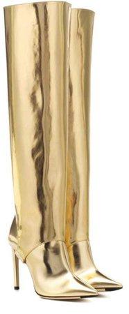 Thigh High Gold Boots