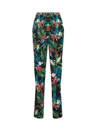 Multi Colour Tropical Print Joggers | Dorothy Perkins