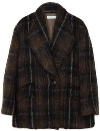 Sayaka Davis Double-Breasted Brushed Wool Coat