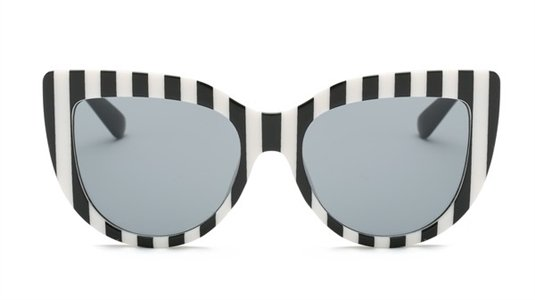 Black & White Striped Sunglasses | Naked City Clothing