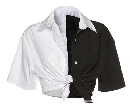 Monochrome Splice Shirt