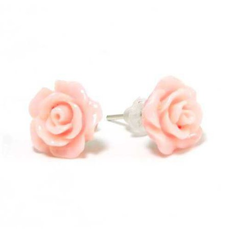 The Olivia Collection Pink Rose Stud Earrings
