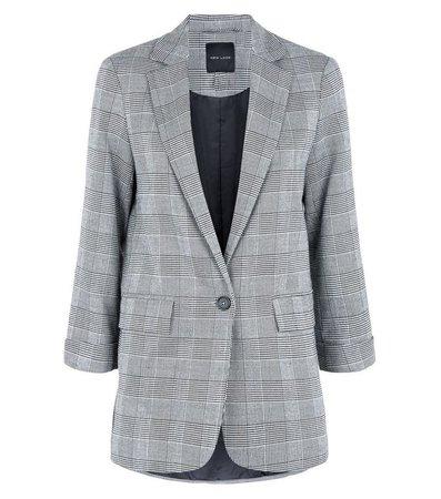 Light Grey Prince of Wales Check Blazer | New Look