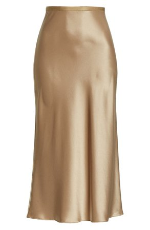 Polo Ralph Lauren Amla Bias Cut Satin Midi Skirt | Nordstrom