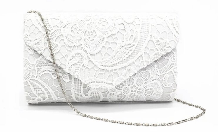 White Lace Purse from light in the box
