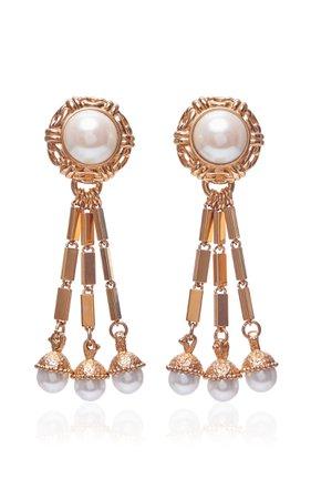 Nereida 18k Gold Plated Tassel Earrings By Markarian   Moda Operandi