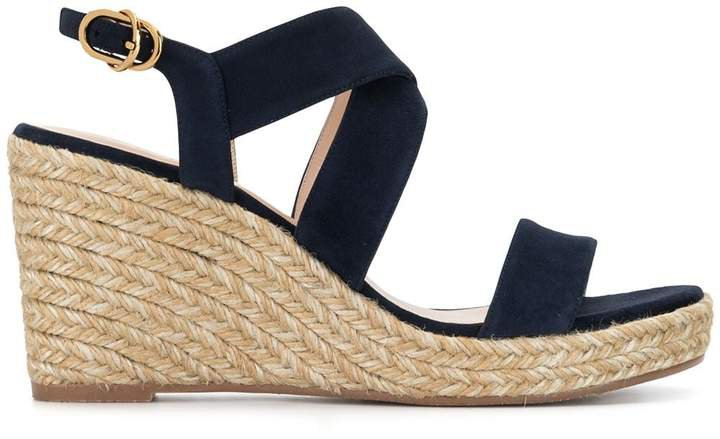 Ellette woven wedge heel sandals