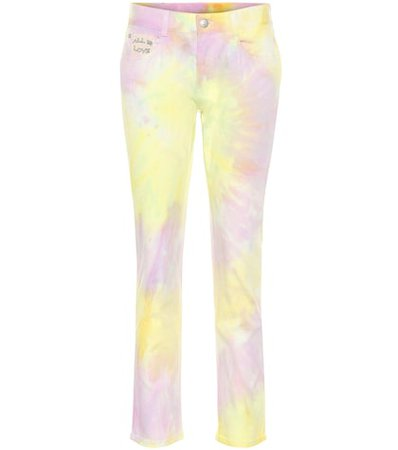 Tie Dye high-rise straight jeans