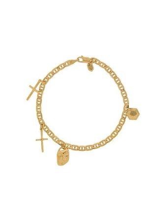 Gold Maria Black Friend Charm bracelet - Farfetch