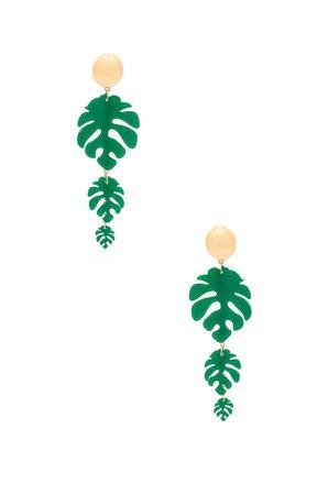 Tropical Palm Earrings
