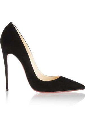 black suede christian louboutin heels