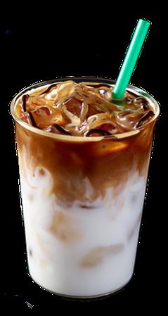 Starbucks Iced Coconut Milk Mocha Macchiato.