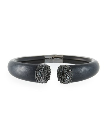 Alexis Bittar Crystal Encrusted Break Hinge Bracelet