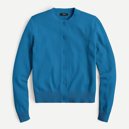 J.Crew: Cardigan Sweater In Cotton Crepe For Women