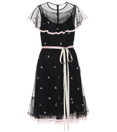 Embroidered minidress