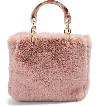 Topshop Faith Faux Fur Top Handle Bag | Nordstrom