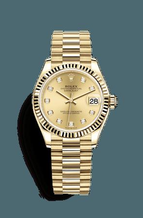 Rolex Datejust 31 Watch: 18 ct yellow gold - M278278-0009