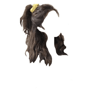 Brown Hair Scrunchie PNG