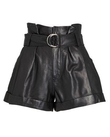 Marissa Webb Dixon Leather Paperbag Shorts   INTERMIX®