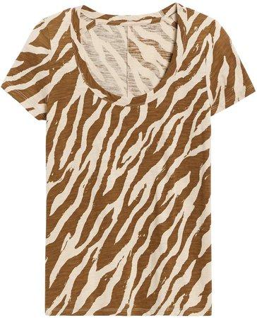 Slub Cotton-Modal Scoop-Neck T-Shirt