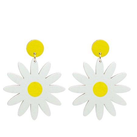 Giant Daisy Earrings 60's/70's Style Dangle Earrings   Etsy