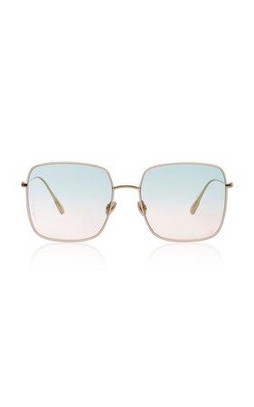 Dior Stellaire Square-Frame Gold-Tone Sunglasses by Dior | Moda Operandi
