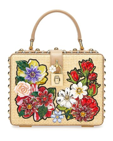 Dolce & Gabbana Jeweled Box Top-Handle Bag | Neiman Marcus