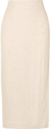 Woven Midi Skirt - Cream