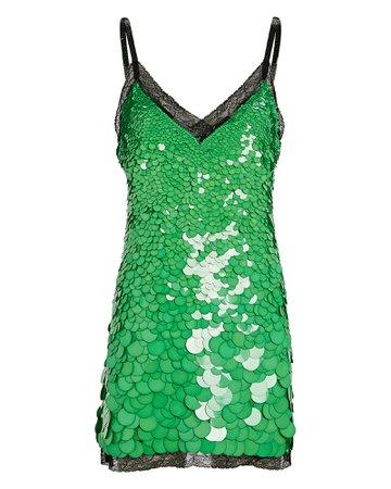 Dundas Sequined Mini Slip Dress | INTERMIX®