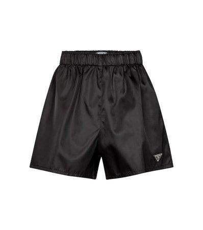 Prada - Nylon gabardine shorts | Mytheresa