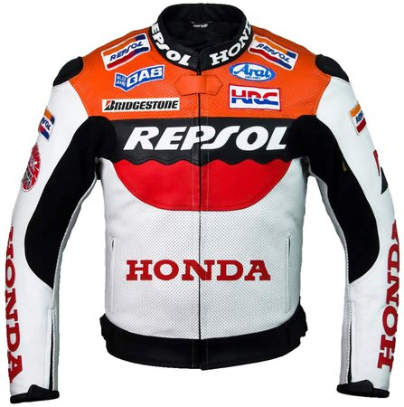 Amazon.com: Repsol Team Racing Leather Jacket (without a hump) (M (EU50)): Clothing