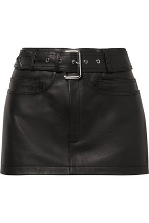 Alexander Wang | Belted leather mini skirt | NET-A-PORTER.COM
