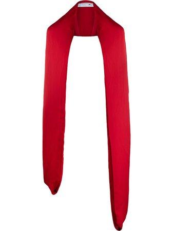 AZ FACTORY padded long scarf red SCA013 - Farfetch