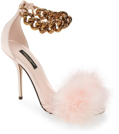 Power Feather Ankle Chain Sandal