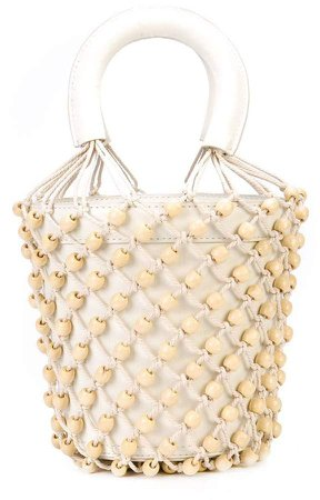 woven beaded tote bag