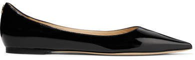 Love Patent-leather Point-toe Flats - Black