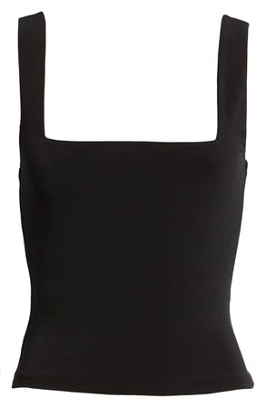 Leith Square Neck Tank black