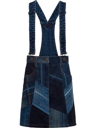 Prada Patchwork Overall Skirt - Farfetch