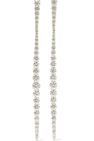 Melissa Kaye | Aria Stiletto 18-karat gold diamond earrings | NET-A-PORTER.COM