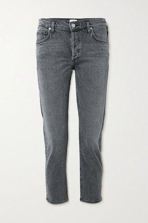 Emerson Mid-rise Slim-leg Jeans - Anthracite