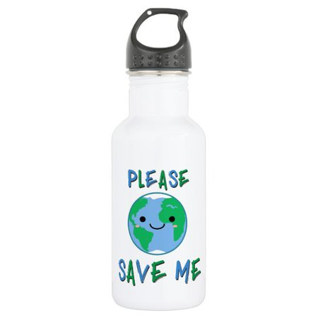 Please Save Me - Earth Day Stainless Steel Water Bottle | Zazzle.com