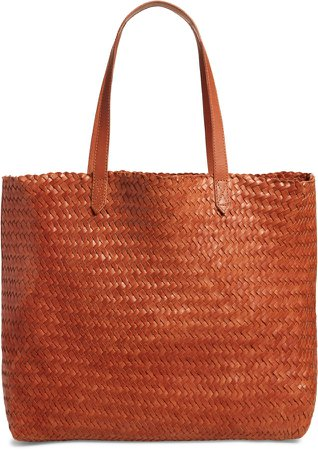 The Transport Leather Tote: Woven Edition